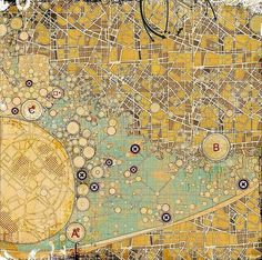 Settlements and City Strategies on the Behance Network #urban #city #map #grid #grunge