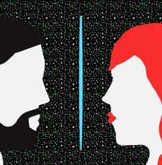 The Skype Kiss #fitza #illustration