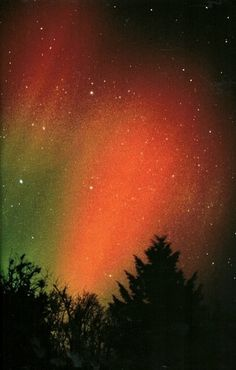 Aurora borealis in Troy, New YorkNational Geographic | October 1990 #aurora #geographic #northern #lights #film #borealis #national