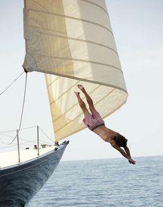Tittysandpancakes #jump #sea #boat #sailing