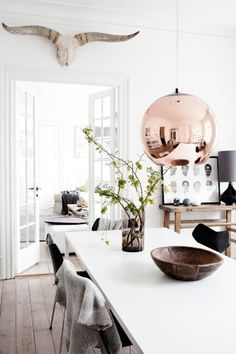 The Design Chaser: Interior Styling | Dining Table Lighting #interior design #decoration #decor #rose gold #feminine