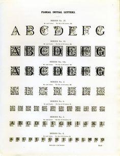 Miller & Richard's floral initials type specimen #type #specimen #typography
