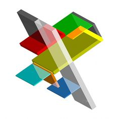 Isometrics #angle #branding #design #graphic #color #geometric #transparent #architecture #art #isometrics