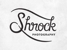 Shrock #lettering #logos #logo #illustration #photography #identity #drawn #brand #custom #type #hand #typography