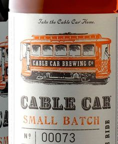 Cable Car Beer #packaging #beer #identity