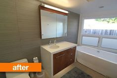 Before & After: Mid Century California Bathroom Meets Modern Day #sink #modern