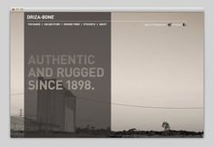 Websites We Love — Driza-Bone #site #design #web