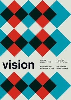 vision at river rock cafe, 1989 - swissted #poster