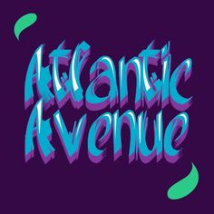 Atlantic Avenue. Font available on handdrawnfont.com #fonts #font #typo #typography