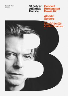 David Bowie tribute concert on Behance #inspiration #poster #typography