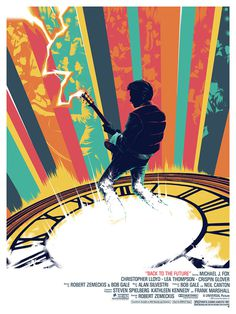 Back to the Future, Marty McFly playing guitar #guitar #backtothefuture #martymcfly #mcfly #movieposter