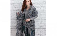 Arm Knit Fringed Wrap #fashion #diy #style
