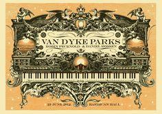 GigPosters.com - Van Dyke Parks - Robin Pecknold - Daniel Rossen #music #illustration #poster