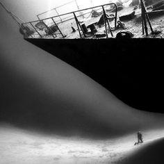 DETHJUNKIE* #white #diver #black #ship #and