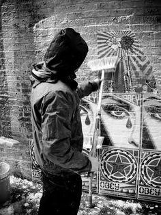 obey at work #streetart #blackandwhite