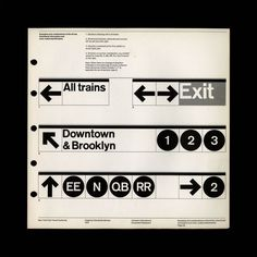 NYC Transit Authority Graphics Standards Manual by Massimo Vignelli and Bob Noorda #nyc #helvetica #subway #layout #clean #font #numbers