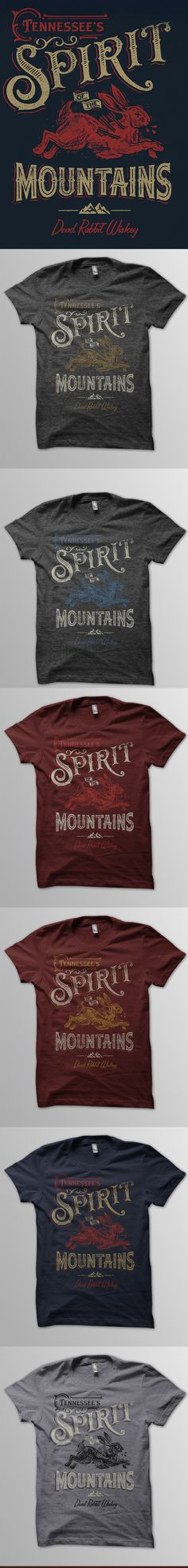 Spirit mountains tee mocks list #design #vintage #type #texture