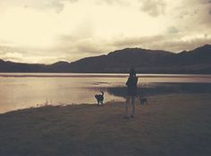 All sizes | Untitled | Flickr - Photo Sharing! #lake #girl #dog