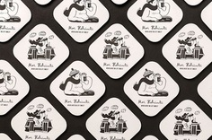 Brand identity and illustrated beer mats for Moi Helsinki by Bond, Finland