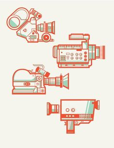 Camera Collection #illustration #retro