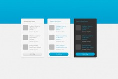 Flat box with blog post Free Psd. See more inspiration related to Box, Blue, Button, Color, Flat, Psd, Post, Blog, Dark, Horizontal, Posts and Greyscale on Freepik.