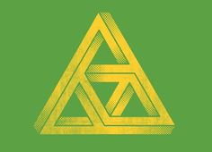 """Penrose Triforce"" Threadless.com Best t shirts in the world #penrose #triangle #yellow #green"