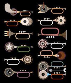 Trumpets - vector illustration