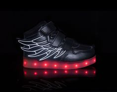 light up shoes led shoes Super-Pegasus-Black