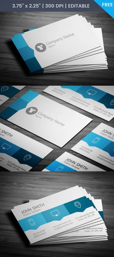 Free Blue Web Designer Business Card Template