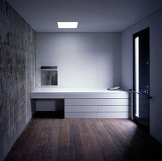 M3/KG #white #void #solid #interiors #wood #architecture