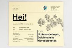 Deichmanske Library Identity #mikael #floysand #promotional #deichmanske #identity