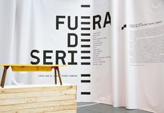 CentroCentro. Madrid / 'Fuera de Serie' exhibition graphics. 2013. Photography: Guillem Ferran. a beautiful and simple execution of designe #gallery #environment #space #wayfinding #exhibit