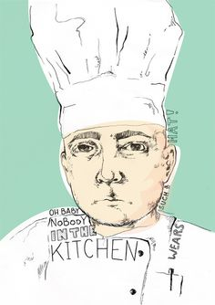 cook illustration #kitchen #illustration #cook #sketch