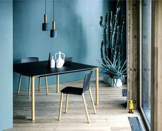 Interior Design Trends 2015 The Dark Color Schemes are Back sharky collection #furniture #furniture design #design #table #chair