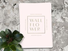 Wallflower - Amy Martino - Design + Art Direction #business #pink #print #logo #cards