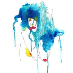 Curves For Every Line [illustrations by Conrad Roset] I Art Sponge #color #roset #conrad #paint #illustration #watercolor