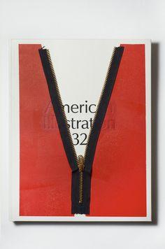 American Illustration : Photo #lettering #book #zipper #cover #deboss #magazine #typography