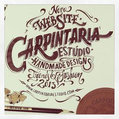 New website by Carpintaria Estúdio. #lettering #hand #trends #made #fashion #type #pencil #typography