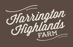 Portfolio // Farm Logo Design // Harrington Highlands Farm #typograpy #logo #script #farm