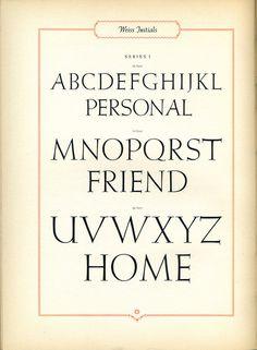 Weiss initials type specimen #typography #type #type specimen
