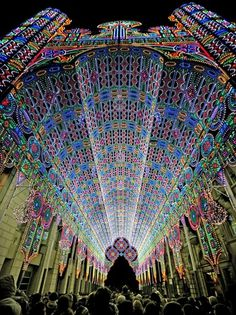 The Cool Hunter - 2012 Light Festival - Ghent, Belgium #colour #light #architecture #installation