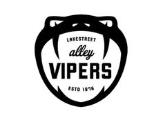 FFFFOUND! | Dribbble - Mpls Bike Gangs / LAKESTREET ALLEY VIPERS by Allan Peters #logo #vipers