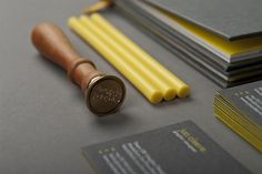 jon cleave #yellow #seal #grey #stamp #portfolio #wax #self promotion #promotional material