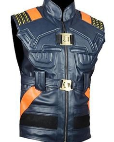 Michael B. Jordan Black Panther Leather Vest (3)