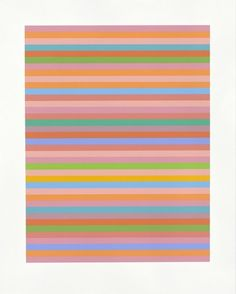 #bridgetriley #roserose Screenprint in colors on Fabriano wove paper