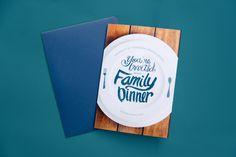 Family Dinner #invitation #dinner #student #food #hand #knoxville