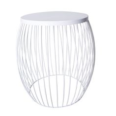 Miami Wire Stool White 44.5cm x 44.5cm x 47cm