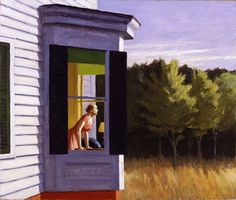 "Edward Hopper and painting ""CC Morning"" #oil #painting #paintings"