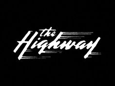Dan Cassaro - Highway #lettering #cassaro #dan #highway #duplex