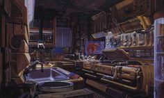 Blade Runner concept artist, design-fiction guru – Syd Mead | Graphicine #interior #mead #blade #runner #machinery #concept #art #syd